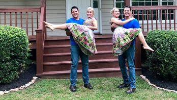 Twin sisters who married twin brothers and live in the same home announce they are pregnant at the same time