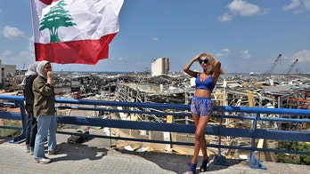 Couple slammed for sexy photoshoot near Beirut explosion site