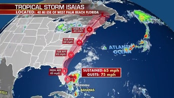 Tropical Storm Isaias lashes Florida's east coast, no longer expected to reach hurricane strength