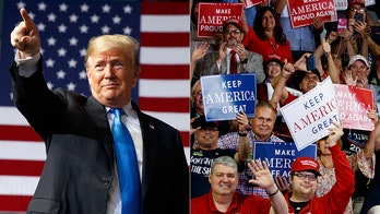 Trump invites Marine who pulled baby over Kabul wall onto stage at rally prompting 'USA!' chants