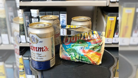 Hidden stash of beer, gum, discovered behind shelving panel at Washington library after more than 30 years