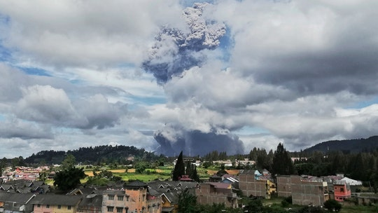 Mount Sinabung volcano in Indonesia erupts, sends column of ash more than 3 miles into the sky