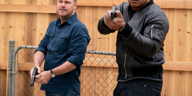 Pictured: Chris O'Donnell (Special Agent G. Callen) and LL COOL J (Special Agent Sam Hanna) on 'NCIS: Los Angeles.'