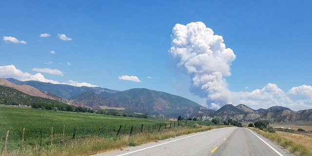 Crews respond to the Grizzly Creek Wildfire in Colorado on Monday, Aug. 10, 2020.