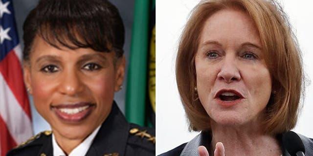 Seattle Police Chief Carmen Best andMayor Jenny Durkan.