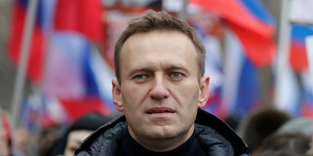 Navalny was placed on a ventilator in a hospital intensive care unit in Siberia after falling ill from suspected poisoning during a flight, his spokeswoman said Thursday. (AP Photo/Pavel Golovkin, File)