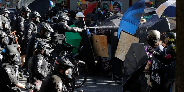 Westlake Legal Group AP20208080411803 Seattle rioters' lawsuit over pricey protective gear 'out of bounds,' attorney says fox-news/us/us-regions/west/washington fox-news/us/us-protests fox-news/us/seattle fox-news/us/crime/police-and-law-enforcement fox-news/shows/fox-news-night fox-news/politics/state-and-local/cities fox-news/politics/state-and-local fox-news/politics/elections/first-amendment fox-news/media/fox-news-flash fox-news/media fox news fnc/media fnc Brie Stimson b7e536e3-c071-50fd-bda3-b5499e38c3f4 article