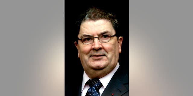 Nobel Peace Prize winner and former leader of the Social Democratic Labor Party John Hume will be shown at Guild Hall, Londonderry, Northern Ireland on January 21, 2002. (AP Photo / Peter Morrison)