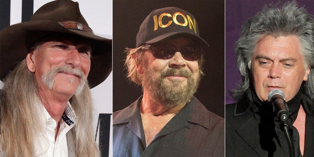 From left: songwriter Dean Dillon, singer Hank Williams, Jr., and singer Marty Stuart, who are the newest inductees to the Country Music Hall of Fame.