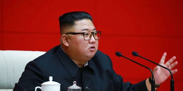 In this photo provided by the North Korean government, North Korean leader Kim Jong Un attends a ruling party meeting in Pyongyang, North Korea, Thursday, Aug. 13 2020.