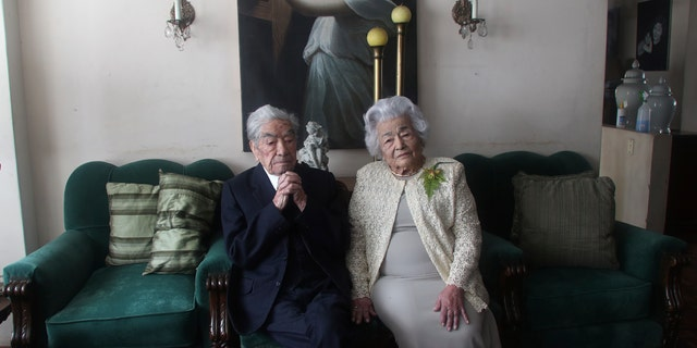 The couple is recognized by Guinness World Records as the oldest married couple in the world due to their age.  (AP Photo / Dolores Ochoa)