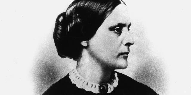 This is an undated sketch drawing of suffragette Susan B. Anthony. Anthony, who was active in the anti-slavery movements, became a leader in women's rights in 1854 and co-founded the National American Woman Suffrage Association in 1869. She was born in Adams, Ma., in 1820 and died in 1906. (AP Photo)
