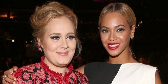 Adele and Beyonce attends the 55th Annual GRAMMY Awards at STAPLES Center on February 10, 2013 in Los Angeles, California. (Photo by Christopher Polk/Getty Images for NARAS)