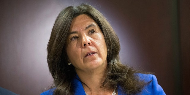CHICAGO, IL - APRIL 20: Cook County State's Attorney Anita Alvarez announces a move by her office to no longer prosecute most cases of misdemeanor marijuana possession involving less than 30 grams on April 20, 2015 in Chicago, Illinois. (Photo by Scott Olson/Getty Images)