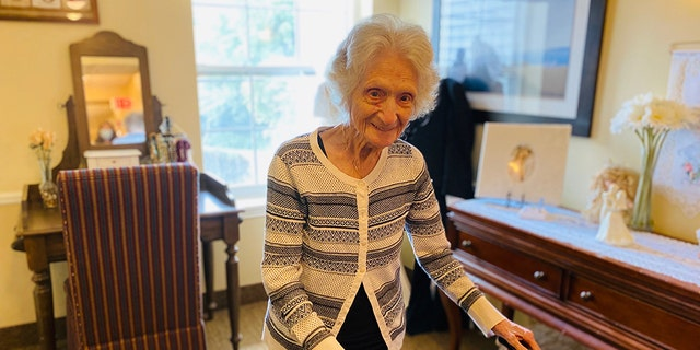 Anna Del Priore staying active at 107.