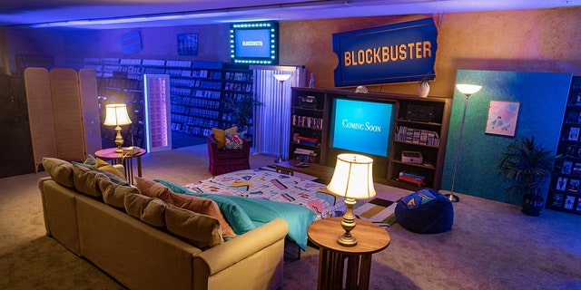 The last Blockbuster in Bend, Oregon, has been outfitted with a living area for Airbnb guests.