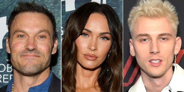 Brian Austin Green, left shared that he has no ill will towards his now estranged wife, Megan Fox, who is now dating Machine Gun Kelly.