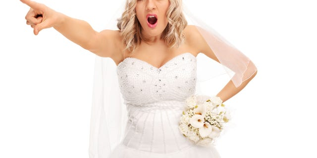 A bride-to-be was apparently furious after her male friend said he wouldn't wear a dress and make-up for her wedding.