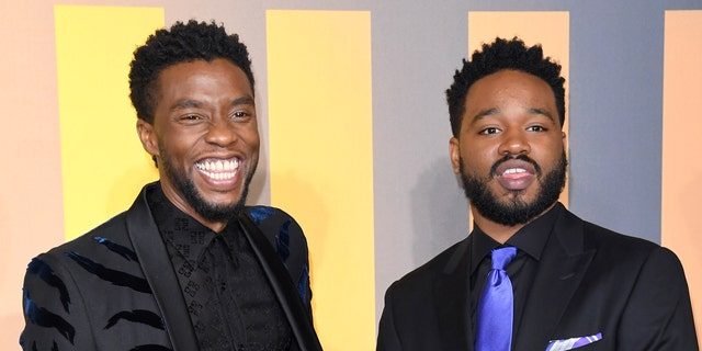 """Chadwick Boseman (left) and Ryan Coogler (right) worked together on the first """"Black Panther"""" film, which had a theatrical release in 2018. (Karwai Tang/WireImage)"""