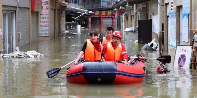 Rainy Weather Causes Major Floods In China