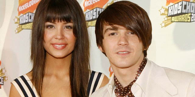 Melissa Lingafelt and Drake Bell during Nickelodeon's 20th Annual Kids' Choice Awards - Orange Carpet at Pauley Pavilion - UCLA in Westwood, California, United States.