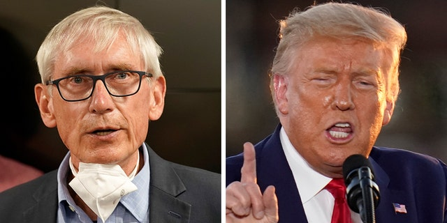 Wisconsin Gov. Tony Evers a Democrat asked President Trump to reconsider traveling on Tuesday to Kenosha Wis. the scene of recent protests against police brutality in a letter Sunday