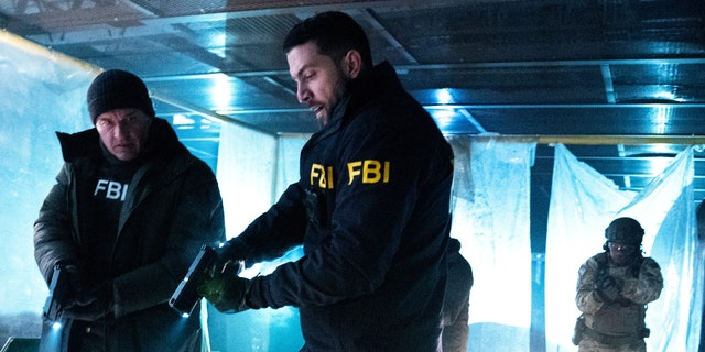 Pictured (L-R) Julian McMahon as Jess LaCroix and Zeeko Zaki as Special Agent Omar Adom 'OA' Zidan on 'FBI: Most Wanted.'