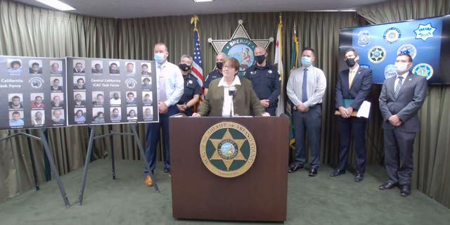The Fresno County Sheriff's Office on Friday said 34 men were arrested in a sting to catch suspected child predators who targeted children online.