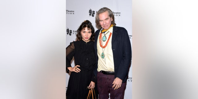 Actors Mercedes Kilmer and Val Kilmer attend the 2019 annual Thespians Go Hollywood Gala at Avalon Hollywood on November 18, 2019, in Los Angeles, California.