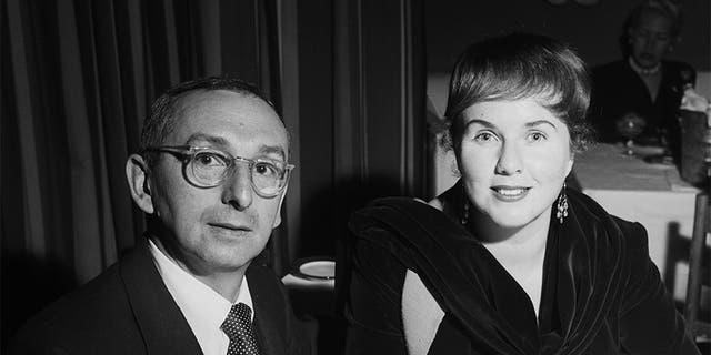 Actress Deanna Durbin her husband Charles David at Mocambo's in Los Angeles, California, circa the 1950s.