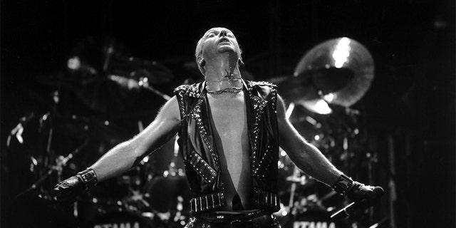 Rob Halford circa 1980s.  Judas Priest singer Rob Halford recalls getting sober in memoir: 'I was in a really dark, desperate place' | Daily's Flash GettyImages 567235651  Judas Priest singer Rob Halford recalls getting sober in memoir: 'I was in a really dark, desperate place' | Daily's Flash GettyImages 567235651