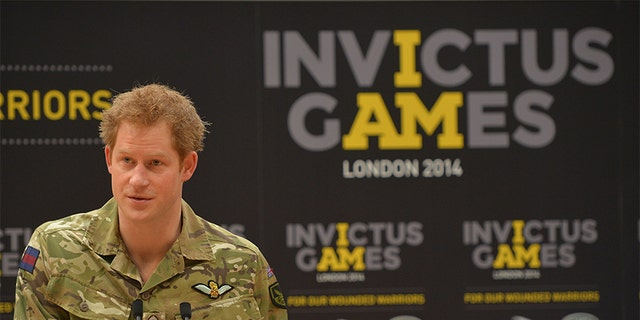 Prince Harry at the Copper Box in Queen Elizabeth Park, London where he announced the Invictus Games, a Paralympic-style sporting championship for injured servicemen and women.