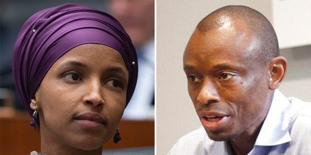 Rep.Ilhan Omar (right) is facing a highly controversial priority on Tuesday evening, even after being angered by her opponent, lawyer Antone Melton-Meaux (left).