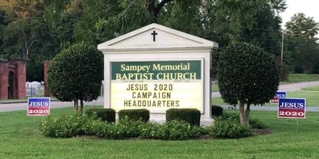 The Jesus 2020 yard sign campaign across the country was started by Joyce Hubbard and her friend Martha Sikes at Sampey Memorial Baptist Church in Ramer, Ala.
