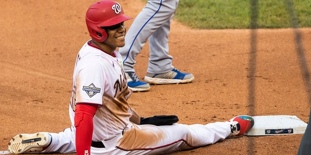 Washington Nationals' Juan Soto helped the team to a World Series in 2019. (AP Photo/Manuel Balce Ceneta)