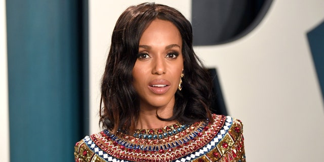 Kerry Washington served as the emcee of the Democratic National Convention's third night on Wednesday. (Photo by Karwai Tang/Getty Images)