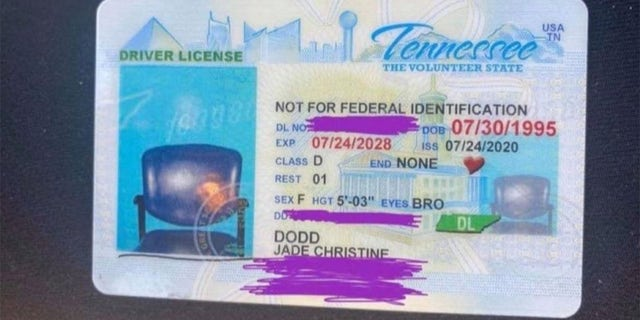 Dodd last Wednesday posted the picture of the ID to her Facebook, which has been shared more than 18,000 times.