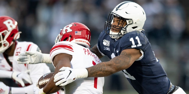 Parsons was selected to The Associated Press preseason All-America first-team, Tuesday, Aug. 25, 2020. Parsons and Oregon tackle Penei Sewell are among 11 players selected who are not slated to play this fall. (AP Photo/Barry Reeger, File)