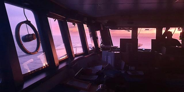 The bridge on board the San Aotea II fishing boat in the Southern Ocean. (AP/Feeonaa and Neville Clifton)