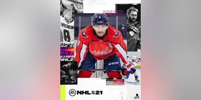 Alex Ovechkin is on the cover of 'NHL 21.'