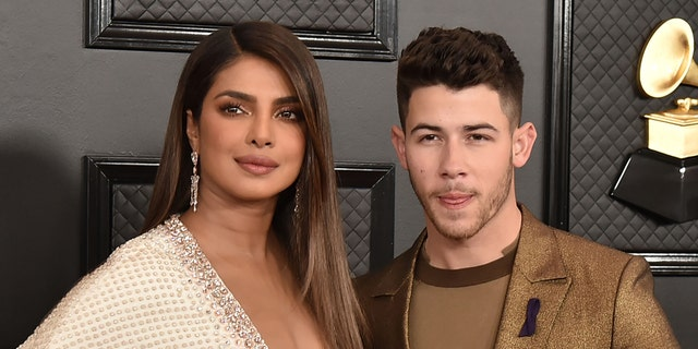 Priyanka Chopra and Nick Jonas attend the 62nd Annual Grammy Awards
