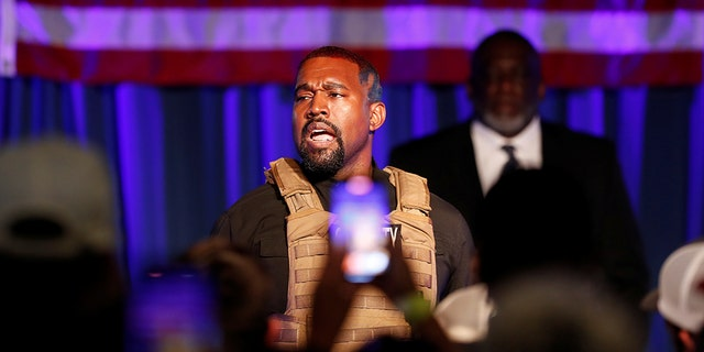 Rapper Kanye West holds his first rally in support of his presidential bid in North Charleston, South Carolina, U.S. July 19, 2020. REUTERS/Randall Hill
