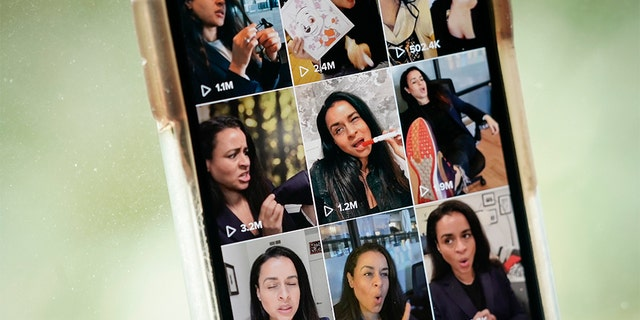 Comedian Sarah Cooper's page is displayed on the TikTok app on an Apple iPhone on Aug. 7, 2020, in Washington, D.C. (Photo Illustration by Drew Angerer/Getty Images)