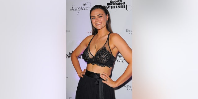 Sports Illustrated model Myla Dalbesio attends SI Swimsuit On Location after-party at Seaspice on May 10, 2019, in Miami, Florida.