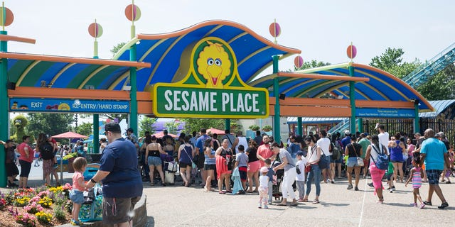 An adult man allegedly punched a Sesame Place worker after being asked to wear a mask at the Pennsylvania theme park, pictured.