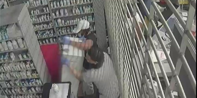 The thieves allegedly tore a safe off the wall of a CVS Pharmacy. (FBI)