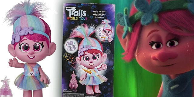 """Hasbro pulled its """"Trolls World Tour Giggle and Sing Poppy Doll."""" (Hasbro)."""