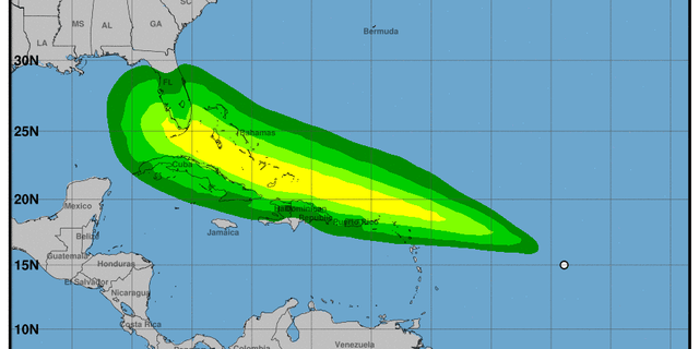 Tropical Depression 13 has tropical storm-force wind speed probabilities.