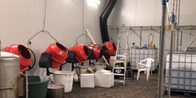 The facility was equipped to produce up to 440 pounds of cocaine a day, officials said.