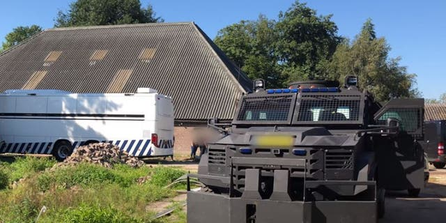 The drug lab was hidden at a former horse riding school in Nijeveen.